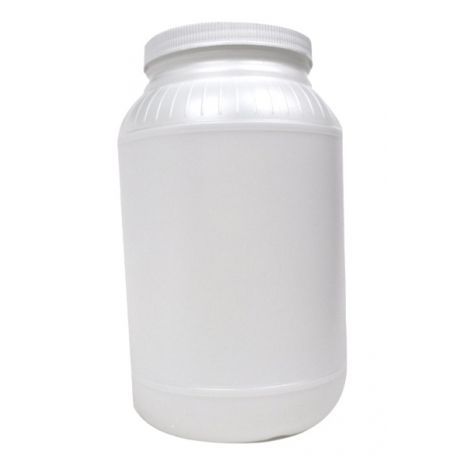 Plastic Jar 128 Oz Natural Round With Cap