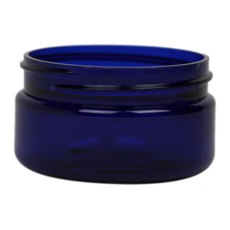 Plastic Jar 2 oz Blue Round Wide