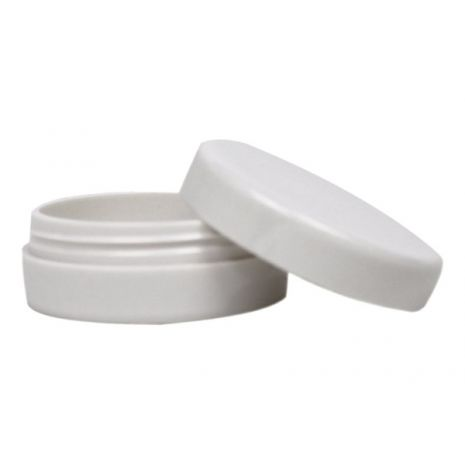 Plastic Jar 1/4 Oz with White Tops