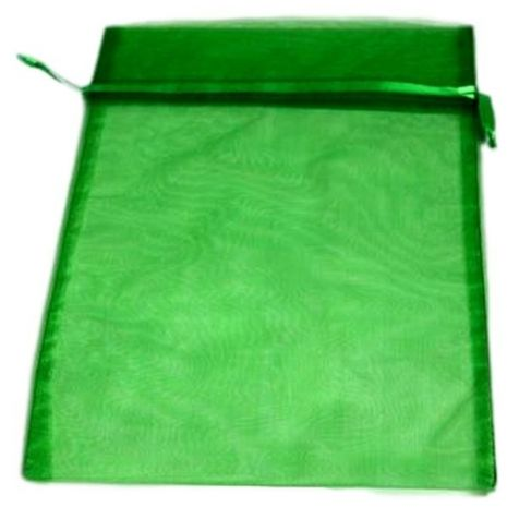Organza Bag - Emerald 8 x 12