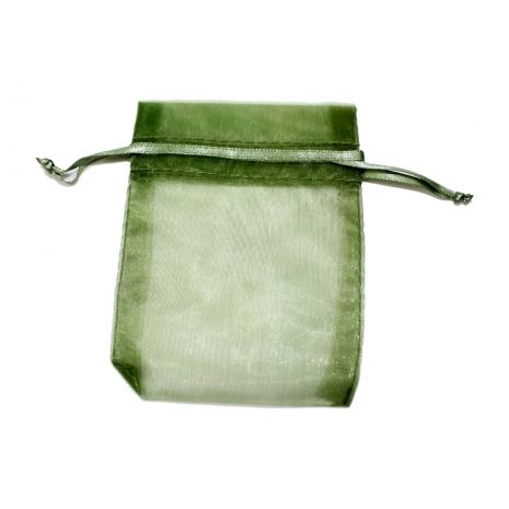 Organza Bag - Moss Green 3 x 4