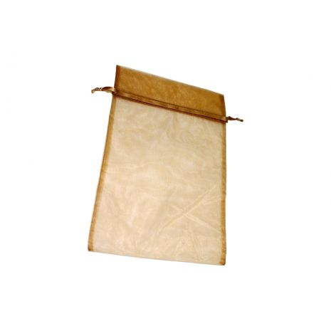 Organza Bag - Toffee 8 x 12