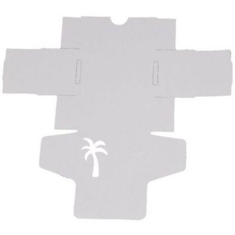 Soap Box - White Tuck Palm Tree