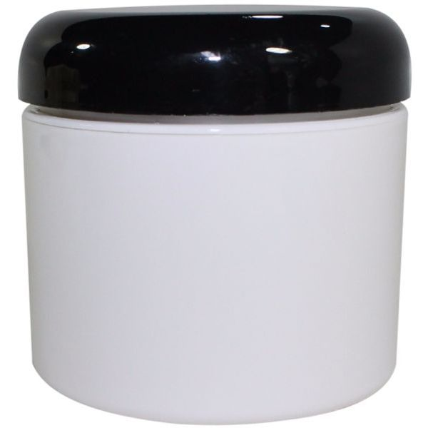 Plastic Jar 4 Oz White Rnd Strt Bottom With Cap